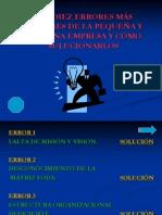 LOS DIEZ ERRORES MAS COMUNES DE LA PEQUEÑA(CORREGIDO) - copia