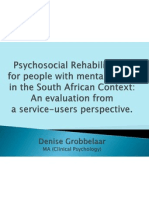 psychosocial rehabilitation in south africa