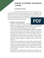 Comparación de sistemas electorales entre México y Brasil