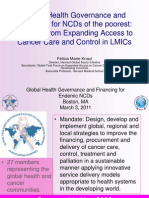 Global Health Governance and Financing for NCDs of the Poorest 030311