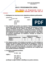 Examen 01 - Programacion Lineal