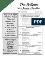 UT Bulletin May 2012