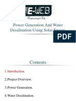 Power Generation & Water Desalination Using Solar Energy