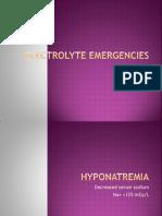 Electrolyte Emergencies 1