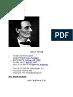 Lincoln Biography