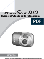Manuale Canon Power Shot d 10