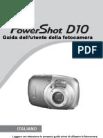 Manuale Canon Power Shot d 10