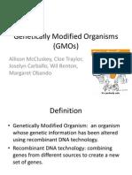 Genetically Modified Organisms (GMOs) Final