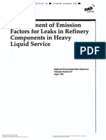 API 337 Emission Factors for Refinery Equipment