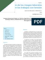 08_EvaluacionDeLosRiesgos Trabajo Con Tension en MT