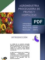 Agroindustria Procesadora de Frutas y Hortalizas