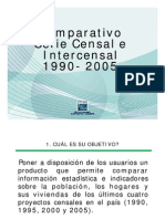 Series Censal e Intercensal 1990-2005