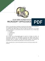 Guia Para Acreditacion en Office Excel