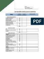CHECK LIST DE REVISIÓN VEHICULAR DE LOGÍSTICA
