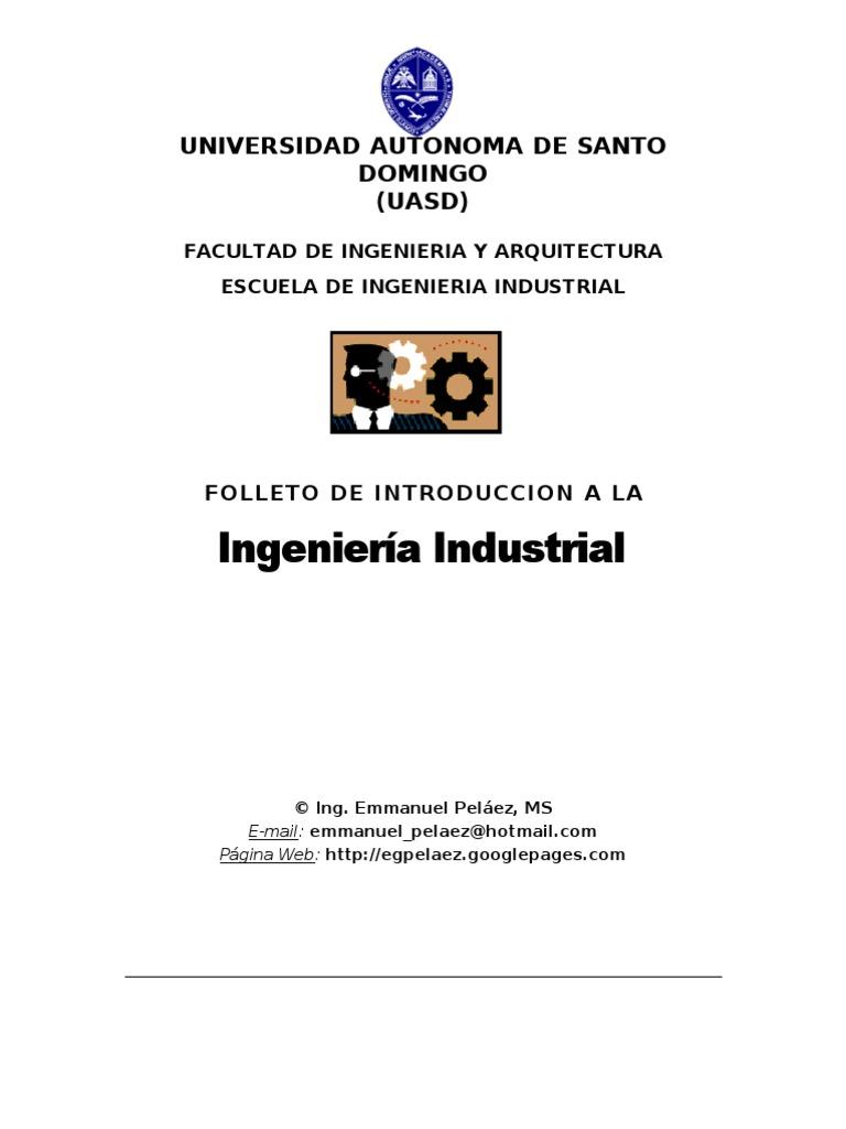 MANUAL INTRODUCCIÓN A LA INGENIERIA INDUSTRIAL