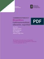 CuadernoTrabajo1 Biopolítica. Gubernamentalidad, educación, seguridad