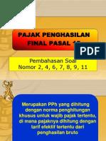 Pembahasan Soal PPh 15