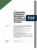 Langrange Continuum Mechanics