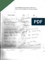 Carta Gauchos Firmada