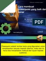Cara Membuat Power Point Yang Baik Dan Benar