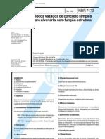 NBR 07173 - Blocos Vazados de Concreto Simples Para Alvenaria