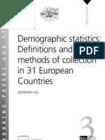 Demographic Statistics
