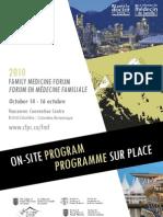 Family Medicine Forum 2010 Program