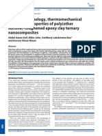 Surface Morphology, Thermomechanical and Barrier Properties of Poly(Ether Sulfone)-Toughened Epoxy Clay Ternary Nano Composites
