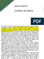 26213166 Michel de Certeau What We Do When We Believe