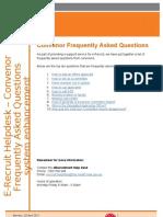 Convenor FAQ