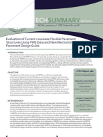 LTRC TS_482 Evaluation of Current Louisiana Flexible Pavement Structures Using PMS Data and New Mechanistic-Empirical Pavement Design Guide