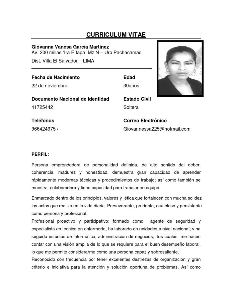 Excelente Gran Muestra De Curriculum Imagen - Ejemplo De Colección ...