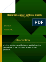 Basic Concepts of Software Quality