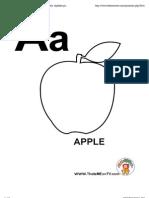 Alphabet Coloring Page, Printable Alphabet Letter, Alphabet Printables