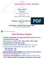 Dr RK Bhogra Draft 2 Pres Solar 2010 Conf 21-22 Sep'10 DLI
