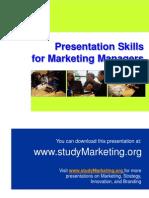 Presentation Skills for Marketing Managers