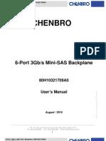 6-Port 3G Mini-SAS Backplane 80H10321709A0