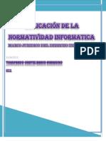 APLICACIÓN DE LA NORMATIVIDAD INFORMATICA