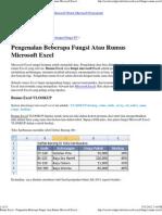 Rumus Excel - Pen Gen Alan Beberapa Fungsi Atau Rumus Microsoft Excel _ Kumpulan Tips Microsoft Excel, Microsoft Word, Microsoft
