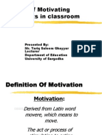 Ways of Motivating Students in Classroom 1
