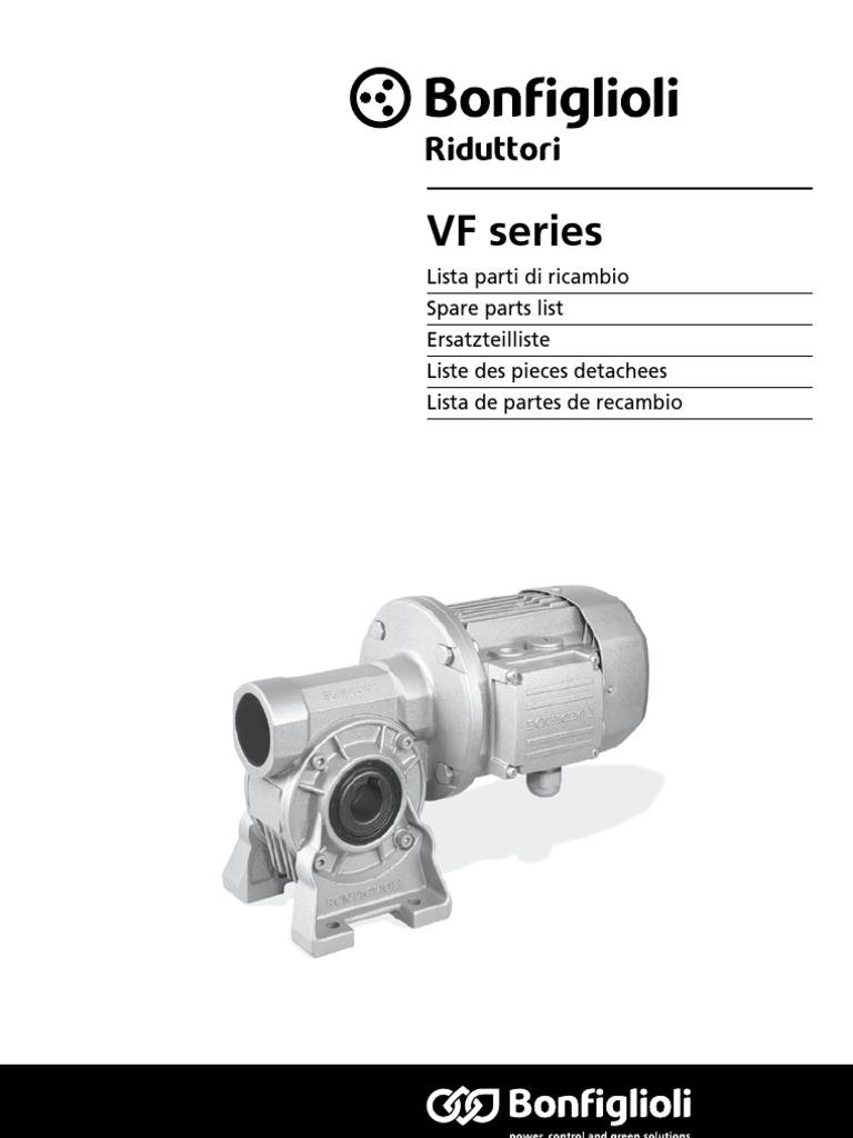 Bonfiglioli Spare Parts Catalogue Br Man Ricambi Vf 1200 R6
