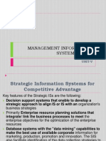 Management Information Systema & Dss-unit-V