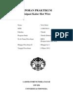 Laporan Disipasi Kalor Hot Wire KR01