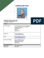 FARRAH AINI DAHALAN CV