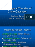 Sociological Theories of Crime Causation