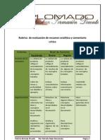 Rubrica Para Evaluar Un Resumen Analitico