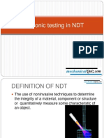 Ultrasonic Testing in NDT