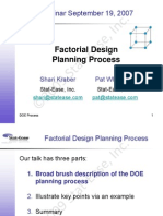 9-07 Factorial Planning Process