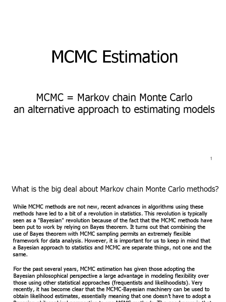 MCMC Estimation March30 2009 | Bayesian Inference