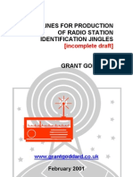 'Guidelines For Production Of Radio Station Identification Jingles' [incomplete draft] by Grant Goddard